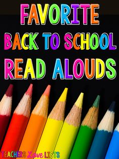 Favorite Back to School Read Alouds... awesome list of books to read the first…
