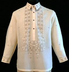 Piña-Jusi Barong Tagalog #2023    Stay cool during warm special day in our breathable barong tagalog dress shirt. Designed with modern pechera pattern with fully embroidered cuffs and collar, it has distinguished buttons for a stylish look with dress trousers. It's a modern loose shape that defines this premium barong tagalog style.  High-quality 100% Jusi Fabric  Formal fit  Fully Embroidered on cuffs and collar  Straight collar, cuff buttons  Traditional four-button front     Price…