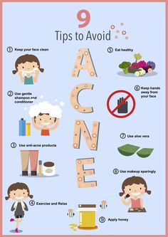 Here are 9 simple tips to help you avoid acne! Come visit us at Lakes Dermatology for acne treatments & more! #acne #smoothskin