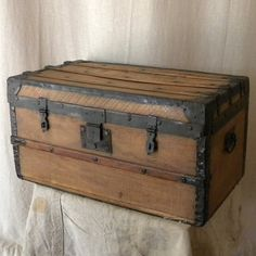 Vintage Wooden Chest. Would love to have an old wooden chest in the house.