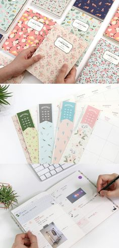 Adorable illustrations and patterns are printed throughout the scheduler making this dateless scheduler ever so attractive!