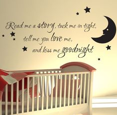 Nursery Wall Sticker Read Me A Story Kids Art Decals Quotes W47 Stickers Reading