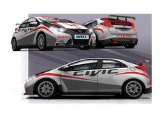 Honda Civic FIA World Touring Car Championship http://www.miltonmartinhonda.com/