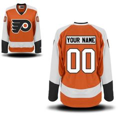 Women's Custom Philadelphia Flyers Orange Premier Home Customized Ice Hockey Jersey Size XL. Material: 100% Polyester,Machine wash. Jerseys as the picture shows, Custom Ordering Info: the Name and/or Number you'd like on the back of your shirt (Max 12 Characters). the processing time is about 5 days to prepare your order.shipping time is 7-15 days. Personalized name and number in single-layer, printed twill are heat-pressed onto the back and sleeves. Customized items are final sale and...