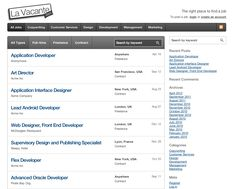 Empresa: La Vacante  Role: Directorio de vacantes en linea.  Web: www.lavacante.com