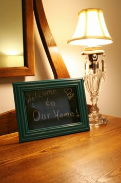 Personalized Teal Chalkboard Frame - Rappsody in Rooms