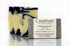 Organic soap vegan handmade and cruelty free Charcoal by Coutiver, £5.99