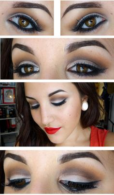 A glamorous pin up make up.