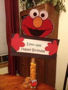 Elmo birthday idea! So cute!