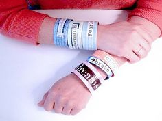 Alma Stoller: how to make a paper bracelet I like this as a project to do with my students.  Back to school starter?