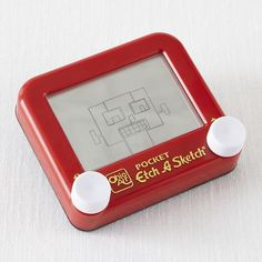 Pocket Etch-a-Sketch! One of our favorite stash-in-your-bag toys for a non-screen alternative in restaurants or the car.