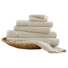 Featuring an elegant chain design, these 1,000-thread-count towels are made with low-twist loops that boost absorbency and durability.