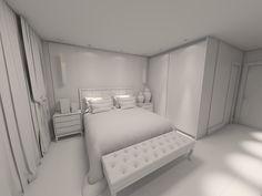 #projetosHAUS Saindo mais um da prancheta. Teste de iluminação para o render. #Haus #interior #designinteriores #interiordesign #decor #decoracao #arquitetura #interiorproject #design #dormitorio #bedroom #render #renderizacao