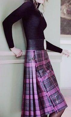 Purple Tartan Skirt