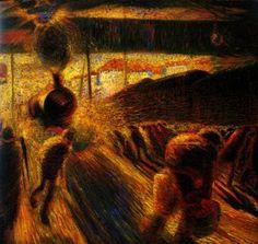 Carlo Carrà || Stazione di Milano || 1909 || Oil on canvas Art History, Milano, Sculptures, Paintings, Trains, Design, Figurative, Italia, Musica