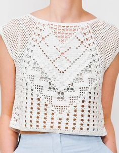 crochet top by Lauren Moffatt