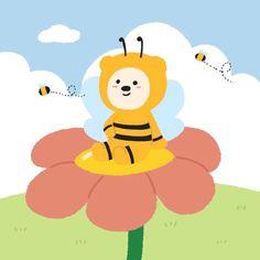 Korean Colors, Cute Kawaii Drawings, Cute Doodles, Kawaii Wallpaper, Cute Wallpapers, Tweety, Chibi, Journaling, Pikachu