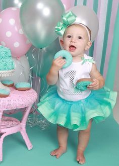 Breakfast at Tiffanys inspired Fake Donuts Birthday Photo Props and Party Decorations, First Birthday Keepsakes on Etsy, $35.00