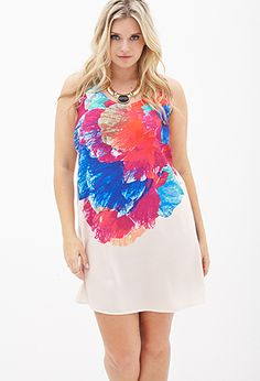Watercolor Floral Shift Dress | FOREVER 21 - 2000067093