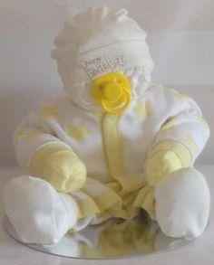 Unique Baby Gift! Gorgeous Unisex/Neutral Lemon Nappy Baby Nappy Cake/Baby…