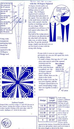 Back Cover of 10 degree Wedge Ruler Circle Quilts, Square Quilt, Dresden Plate Patterns, Quilt Material, Bargello, Sewing Notions, Cotton Quilts, Ruler, Wedge