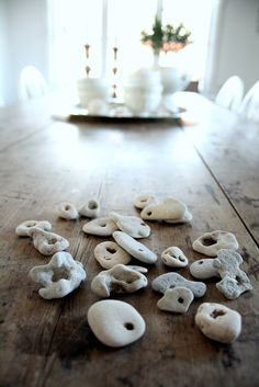 hag stone collection, pretty good and probably about as many as mine. Hag Stones, Rock And Pebbles, Cool Rocks, Sticks And Stones, Beach Stones, Pebble Art, Rocks And Minerals, Stone Art, Rock Art