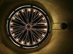wheelight, Vasileios Roumeliotis, Roumelight, bike wheel, bicycle, bike, recycled bicycle wheel lamp, recycled materials, sustainable design, green design, green interiors, bike parts, recycled bike parts