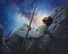 Evening with the Father...I love this picture; it in bodies how I feel when I look at the stars. ..so in Awe of my Heavenly Father and so content in his presence. ..for a short time i font feel home sick !
