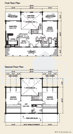Residential | Real Log Homes | Elements of Floorplan | Pinterest ...