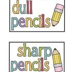 Here are some nifty labels for your pencil containers!  They are pretty universal in their design and would be suitable for any grade level classro...