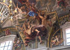 Fresco in the ceiling of the Church of Saint Ignatius (Chiesa San Ignazio), Rome