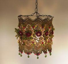 Lampada fatta a mano di Anat Bon  splendida tonalità di