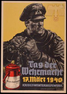 """""""Tag der Wehrmacht""""  Herausgeber: Kriegswinterhilfswerk;propaganda poster"""