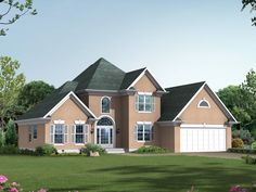 The Sherbrooke Traditional Home has 3 bedrooms, 2 full baths and 1 half bath. See amenities for Plan 010D-0001.