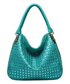 Love this Aqua Cross Cutout Demi Faux Leather Shoulder Bag by Melie Bianco on #zulily! #zulilyfinds