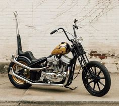 "This little chopper has taught me a lot about patience and preparation.""⚡️Read more about Black & Gold Sportster in the new Harley Davidson Motorcycles, Cars And Motorcycles, Old Skool, Bobber, Chopper, Patience, Pittsburgh, Black Gold, Classic"