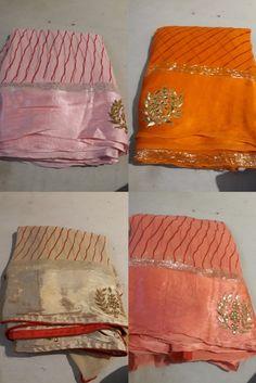 Gold Silk Saree, Plain Georgette Saree, Crepe Silk Sarees, Chanderi Silk Saree, Stylish Blouse Design, Fancy Blouse Designs, Stylish Dress Designs, Chiffon Saree Party Wear, Saree Floral
