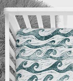Baby boy nursery themes sea waves 57 ideas for 2019 Surf Nursery, Ocean Themed Nursery, Nursery Crib, Nautical Nursery, Nursery Themes, Nursery Ideas, Nautical Bedding, Room Ideas, Elephant Nursery