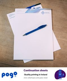 If your correspondence has several pages, print the first one on a headed paper and the others on continuation sheets. Letterhead, Printing Services, Templates, Lighter, Prints, Range, Business, Paper, Design