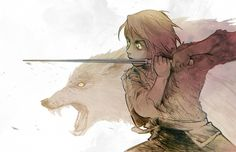 Beanclam, A Song of Ice and Fire, Arya Stark, Nymeria (Direwolf), Fight Stance, Reverse Trap