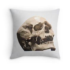 'Study No. The Skull' Throw Pillow by houseofenigma Duvet, Bedding, Skull, Throw Pillows, Blanket, Down Comforter, Toss Pillows, Decorative Pillows, Decor Pillows