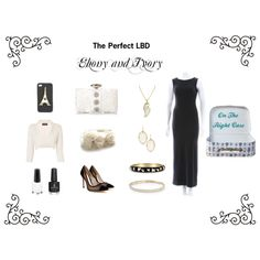 """The Perfect LBD: Ebony and Ivory"" by ontherightcase on Polyvore"