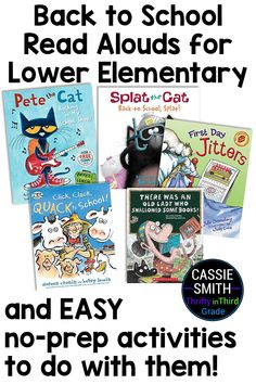 Get back to school read aloud suggestions for lower elementary students. These books are appropriate for first, second, and kindergarten students. This article also includes easy no-prep activities you can do with each read aloud! Reading Lesson Plans, Reading Lessons, Beginning Of The School Year, Back To School, Third Grade Reading, Schools First, Guided Math, Teacher Hacks, Read Aloud