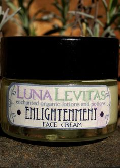 Enlightenment Organic Face cream with Frankincense by LunaLevitas