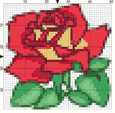 Mother's Day Rose Needlepoint Pattern: Day 123 of the 365 Needlepoint New Year's Resolutions Challenge