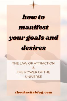 My guide to utilizing the power of the universe and manifestation to achieve your goals. Manifestation, manifesting tips, how to manifest, manifesting goals, the law of attraction, the power of the universe, manifestation journal, manifestation law of attraction, manifestation law of attraction love, manifestation law of attraction money, manifesting methods. Manifestation Journal, Attraction, Law, Universe, Goals, Money, Health, Tips, Daily Journal