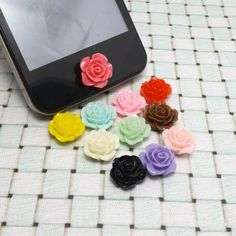 Romantic Fashion Fresh Rose Flower DIY Home Button by MilanDIY
