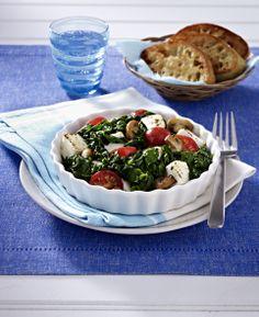 #VeggieDay - Kleiner Spinat-Schafskäse-Gratin mit Ciabatta (http://www.iglo.de/de-de/rezepte/kleiner-spinat-schafskaese-gratin-mit-ciabatta/)