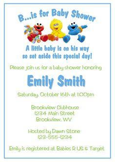 Sesame Street Baby Shower Ideas | Sesame Street Baby Shower Invitations - DIY Printable
