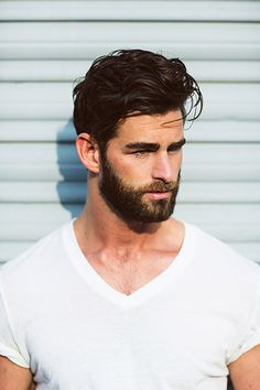 Chris Salvatore's long haircut is a style that looks great with a beard.